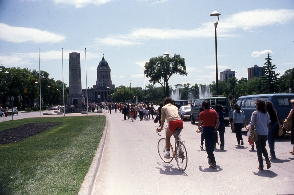 Winnipeg, Manitoba, le parlement, 1983