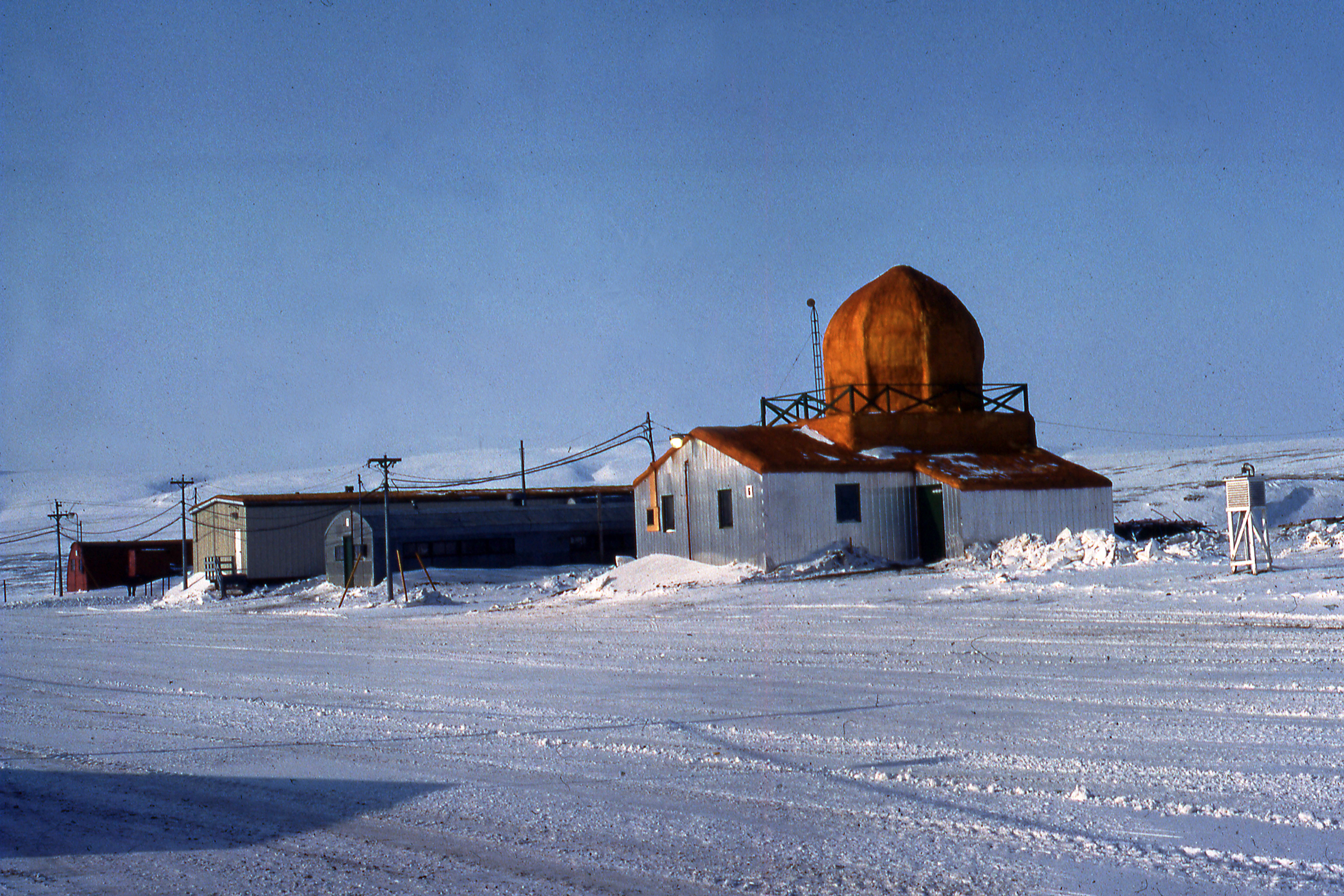 Eureka, Nunavut, radar ballon météologique, Weather balloon tracking radar, 1983