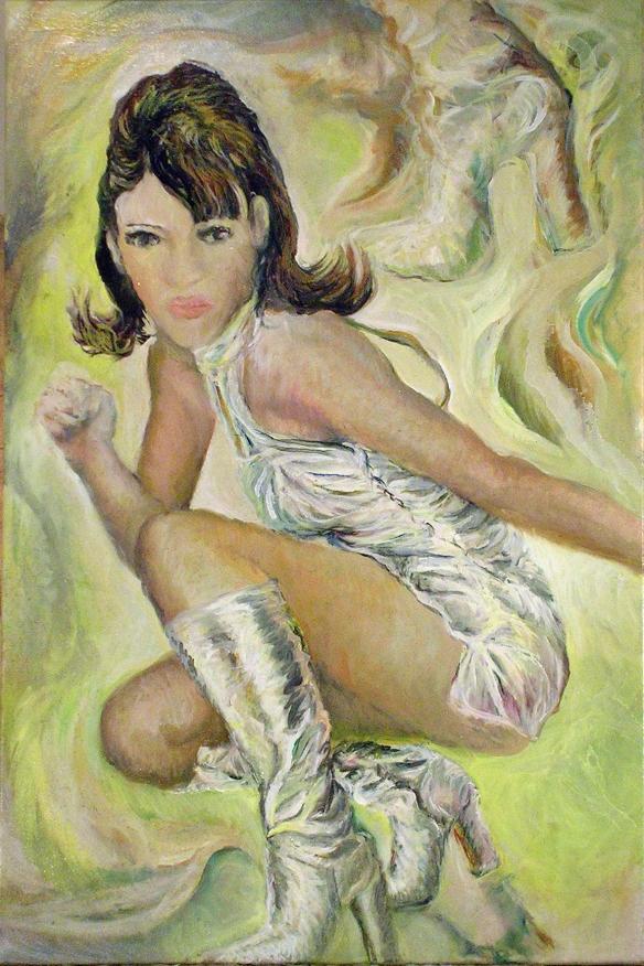431-47 Liz Hurley 4, Huile sur acrylique, 20x30 po, 2014-11-21
