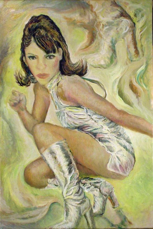 431-48 Liz Hurley 4, Huile sur acrylique, 20x30 po, 2014-11-23