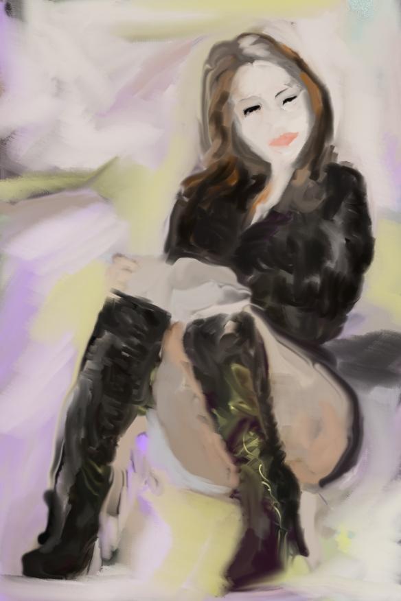 E001-007 Carla Brown 2, illust. ordi./Computer sketch, 2014-12-28