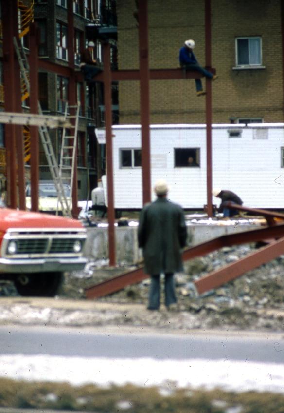 Site construction Montréal, novembre 1981