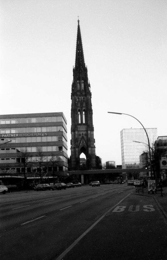 Église, Church, Hambourg / Hamburg, Allemagne / Germany, 1986-11