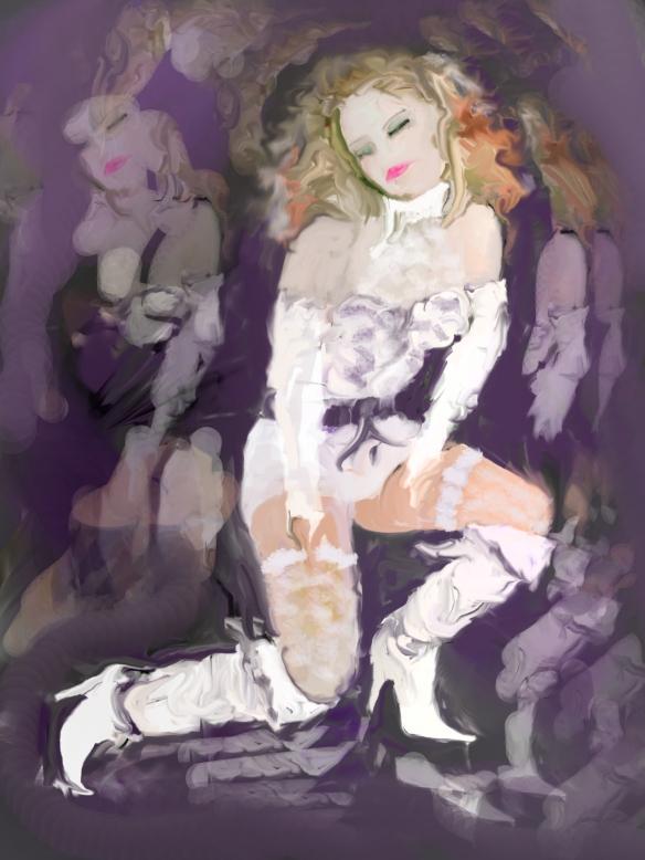 Modèle imaginaire 003, illustration à l'ordi, photoshop, 2015-01-02