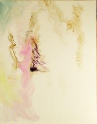 443-01, Chanteuse inconnue, acrylique, 22x28 po (55x70 cm), 2015-02-17