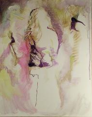443-03, Chanteuse inconnue, acrylique, 22x28 po (55x70 cm), 2015-02-17