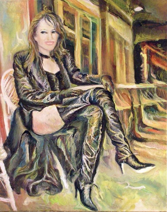 425-50, Elizabeth Hurley 3, huile 22x28 po (55x70 cm) 2015-03-22