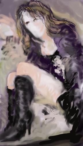 Liz Hurley 5, illustration ordinateur/computer sketch; 2015-04-23