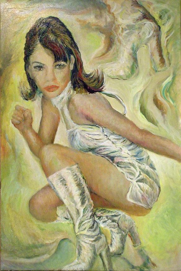 431-50 Liz Hurley 4, Huile sur acrylique, 20x30 po, 2015-05-13