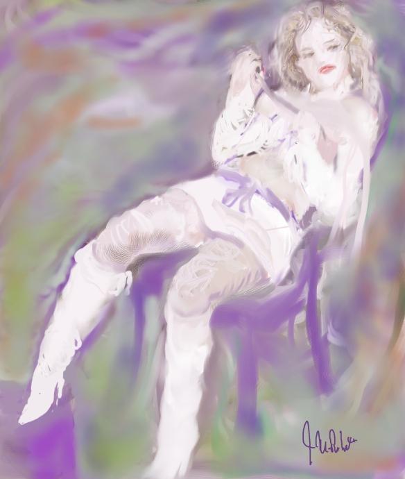 E-0009-002; modèle imaginaire/Imaginary model, 2015-04-?? Corel Painter, Photoshop et tablette/tablet, Photoshop and Corel Painter