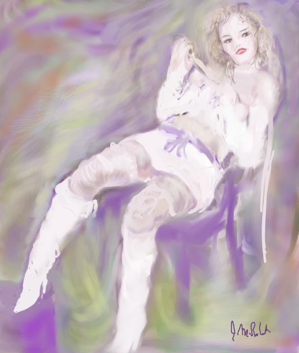 E-0009-003; modèle imaginaire/Imaginary model, 2015-06-03 Corel Painter, Photoshop et tablette/tablet, Photoshop and Corel Painter