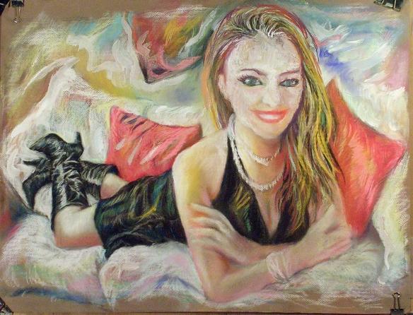 437-36 Carla Brown, pastel/gouache, 25,5x19,5 po/in (65x50 cm); 2015-07-09