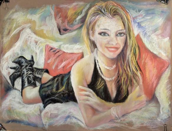 437-37 Carla Brown, pastel/gouache, 25,5x19,5 po/in (65x50 cm); 2015-07-12