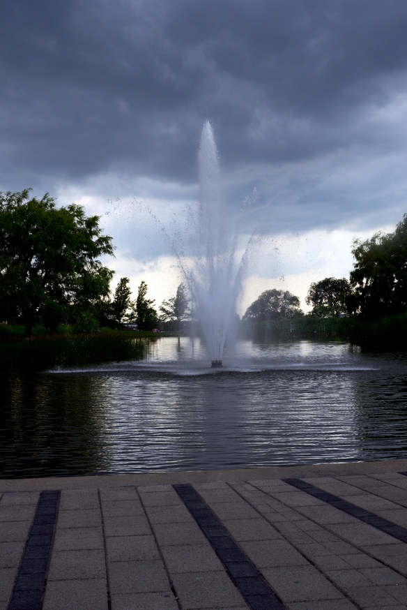 Fontaine, parc Jarry, juin 2015
