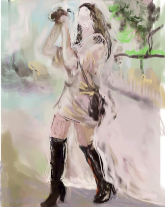 E-0015-016; Aurélie Claudel, tablette graphique/graphic tablet, photoshop/Corel Painter, 2015-08-19