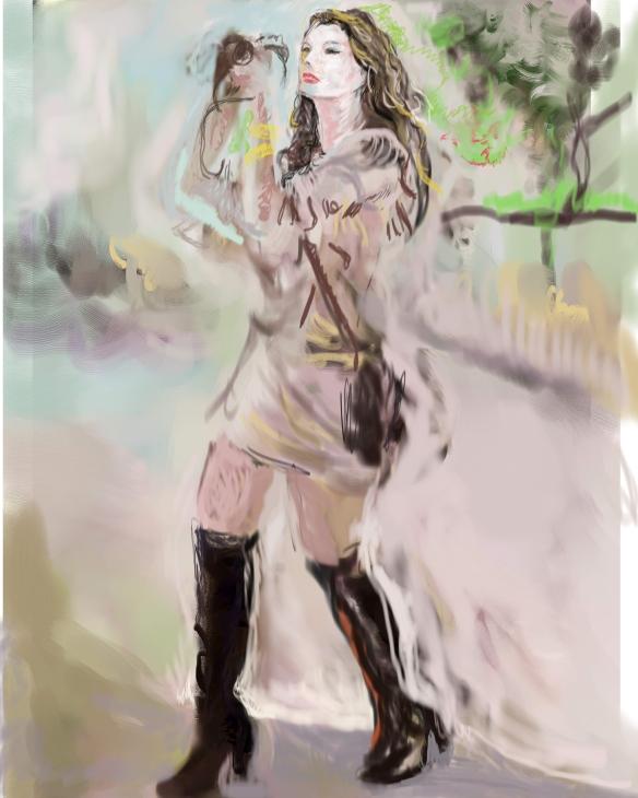 E-0015-017; Aurélie Claudel, tablette graphique/graphic tablet, photoshop/Corel Painter, 2015-08-21