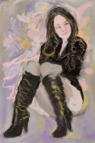 E-0001-018 Carla Brown 2, illust. ordi./Computer sketch, 2015-08-06