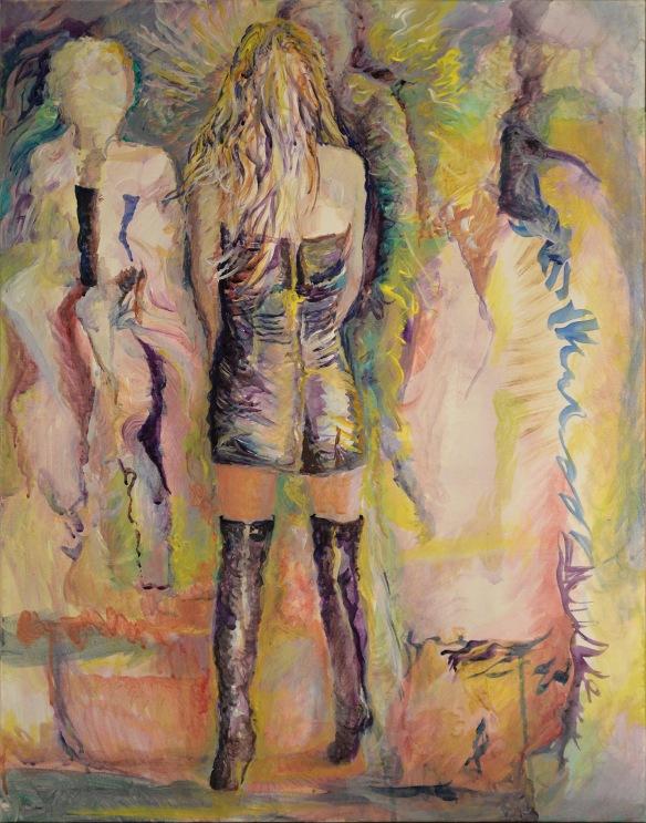 443-08-R, Ariana Grande, acrylique, 22x28 po/in (55x70 cm), 2015-09-28