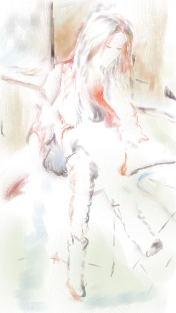 E-0023-004-R, modèle lisant/model reading, Art digital, 2015-09-03